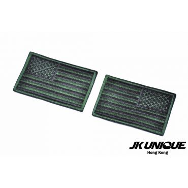 JK UNIQUE Patch - USA FLAG ( Black x Green ) ( Left / Right ) ( Free Shipping )