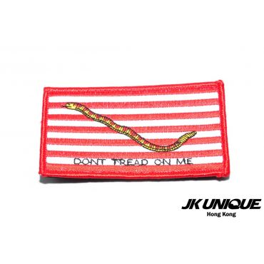 JK UNIQUE Patch - Navy Jack ( Dont Tread On Me ) ( Red )