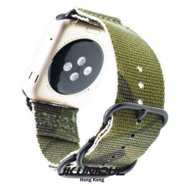 JK UNIQUE CAMO NYLON Apple Watch Strap 42mm Black Buckle - Multicam Tropic