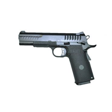 KJ Works KP 08 HI-CAPA Full Metal Black GBB Pistol