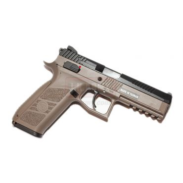 KJ Works CZ P-09 Duty GBB Pistol ( ASG Licensed / Gas Version ) ( TAN )