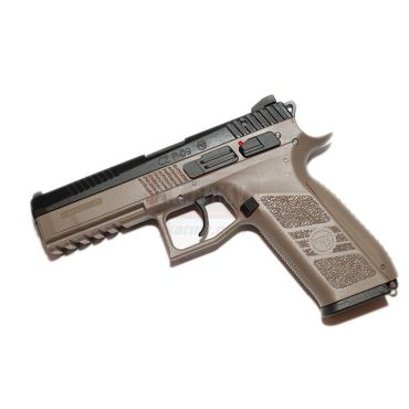 KJ Works CZ P-09 Duty CO2 Pistol ( ASG Licensed / Co2 Version ) ( TAN )