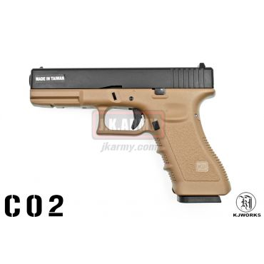 KJ Works KP-17 GBB Pistol CO2 Version - Tan ( G Model )