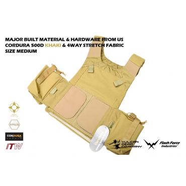 Level MBAV Vest Version2 with ITW Buckle ( SIZE:MD ) ( Khaki ) ( MARSOC / Raiders Style ) ( VGC X FFI )