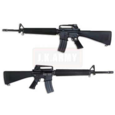 WE M16A3 Gas Blow Back Open Chamber Rifle Black Edition (GBB)