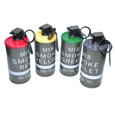 M18 Smoke Grenade Dummy  ( RED / YELLOW / GREEN / PURPLE ) ( Free Shipping )