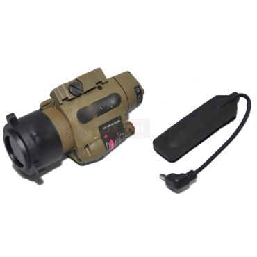 M6X LED Flashlight & Red Laser w/ IR Style Infrared Filter ( DE )