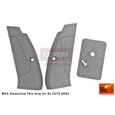 MAC Aluminium Thin Grip for KJ CZ75 SP01 ( Black )