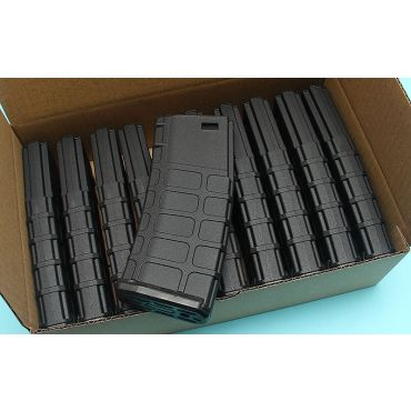 G&P GMAG Mid-cap Magazine For Marui M16 Series AEG (Black) (10pcs / Pack)