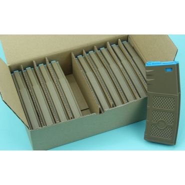 G&P Ball Ball Hi-Cap AEG Magazine ( FDE / Blue ) ( 10pcs / Pack )