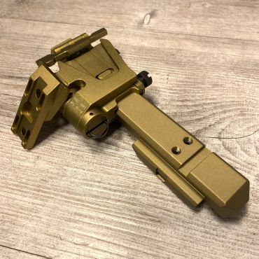 G33 Magnifier Flip Mount and High Risers Mount Rail ( FDE ) ( G23 ) ( CAG Style ) ( Free shipping )