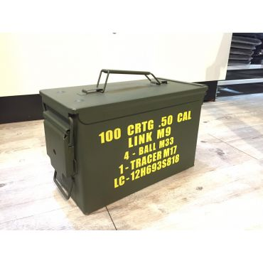 Metal Ammo Can Box Storage Airtight & Waterproof Stackable Storage for Pistol Case ( 2 Pistol & 6 Magazine )