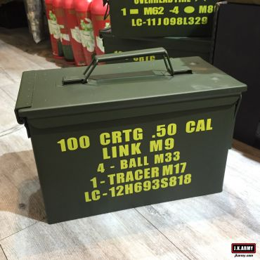 Metal .50 CAL Ammo Can Box Storage Airtight & Waterproof Stackable Storage ( Type 3 Layers Parts Baskets )