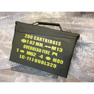 Metal Ammo Can Box Storage Airtight & Waterproof Stackable Storage for Pistol Case ( 1 Pistol & 4 Magazine )
