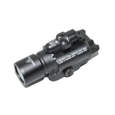 MIC 400 Style Rail Flashlight w/ Red Laser ( BK )