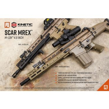 "PTS Kinetic SCAR MREX M-Lok 4.9"" Rail"