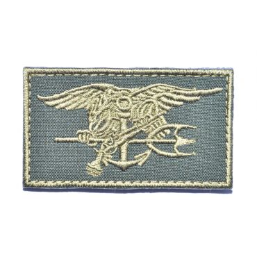 Navy Seals Trident Patch ( Khaki ) ( Free Shipping )
