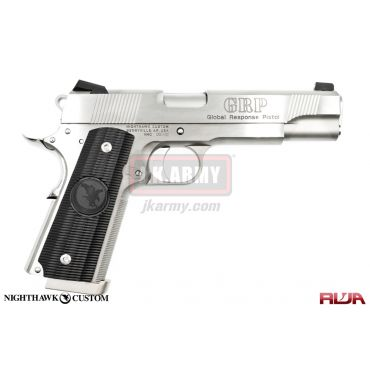 Nighthawk Custom GRP Stainless Steel GBB Pistol Airsoft Limited Edition ( RWA )