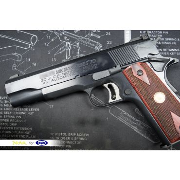 "Custom Made - Nova "" Gold Cup Nation Match "" Aluminum Frame & Slide Kit with Marui Airsoft S70 1911 - Black ( Limited )"