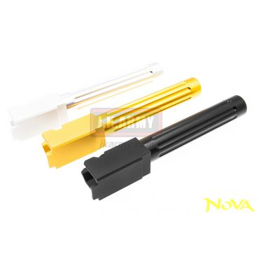 Nova BK-List Style CNC Aluminum Outer Barrel Fluted for Marui Model 17 / 18C / 22 GBB Pistol