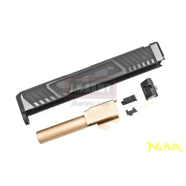 Nova T-Style G26 Aluminum Slide for Marui Airsoft G26 GBB Series - Shiny Black ( Limited Item )