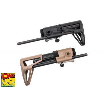 OMG M4 PDW CQB Stock for Marui MWS / WA / WE GBB ( Aluminum M4 Telescopic Stock )