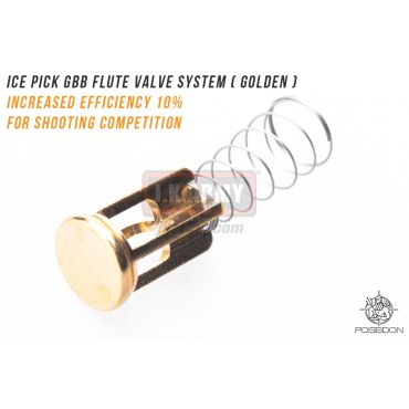 Poseidon ICE PICK GBB Flute Valve System ( Golden ) ( Marui / WE System Only )
