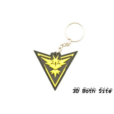 Poke Style Instinct Yellow Team PVC 3D Mini Key Chains ( Free Shipping )