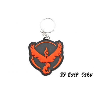 Poke Style Valor Red Team PVC 3D Mini Key Chains ( Free Shipping )