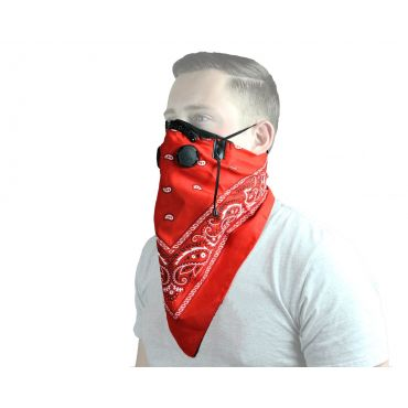 ATV Tek Pro Series Bandana Dust Mask - Red ( BDMRED )