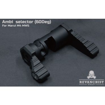 Revanchist Ambi Selector ( 60 Deg ) For Marui M4 MWS ( Black )