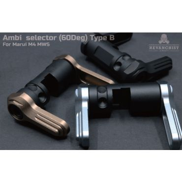 Revanchist Ambi Selector ( 60 Deg ) Type B For Marui M4 MWS