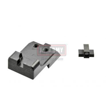 Ready Fighter HEI Style Ledge Black Rear Sight Novak Cut for Marui MEU / 1911