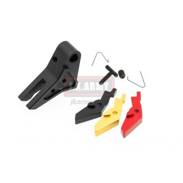 Ready Fighter S Style Flat-Faced Trigger Adjustable For TM / KJ / WE / VFC G Model Series ( BK )