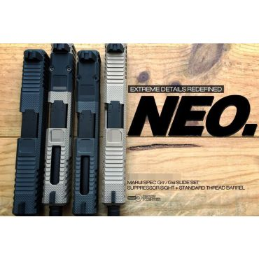 Ready Fighter Neo Style Slide Set For Marui Model 17 GBB ( Grey / Bronze )