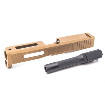Pro Arms / Old Driver S Style Steel Slide w/ Outer Barrel for UMAREX / VFC Glock 19X / Glock 45 GBBP ( DE ) ( Limited Edition )