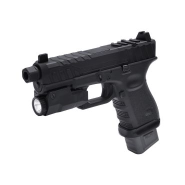 SLR Airsoft Slide with UMAREX Glock 19 Gen 3 GBB Pistol ( RMR Pre Cut ) ( Black )  ( JKA Custom )