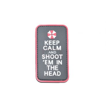 FFI Soft PVC Patch - Umbrella Keep Calm ( Free Shipping )