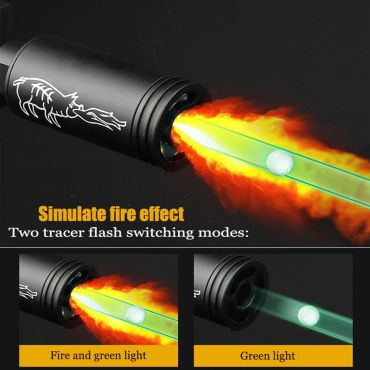 Spitfire Tracer Unit with Flame Effect 14mm CCW ( Black ) ( Fire Breathing Pig Style )