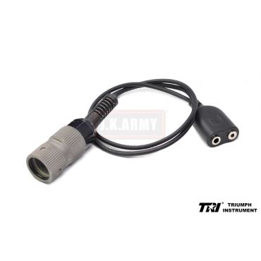 TRI Adapter Cable ( Z-Tac Kenwood PTT to Military 6 pin )