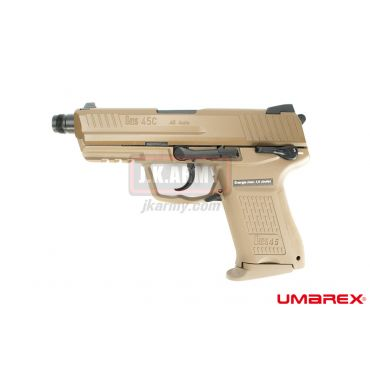 Umarex HK45 Compact Tactical GBB Pistol Airsoft ( VFC Asia Version / FDE ) ( HK45CT )