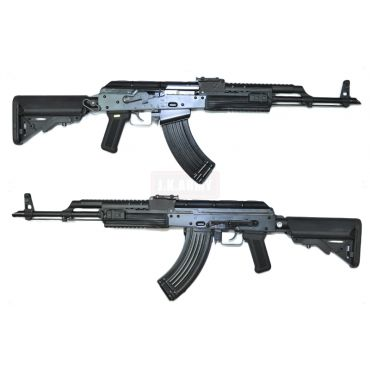 WE AK74 PMC Gas Blow Back Rifle ( Black )
