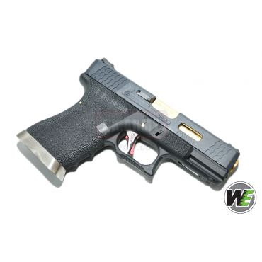 WE G19 Pistol Airsoft T1 ( BK SLIDE / GD BARREL / BK FRAME ) (Airsoft)