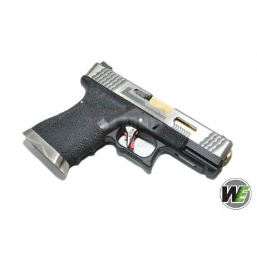 WE G19 Pistol Airsoft T3 ( SV SLIDE / GD BARREL / BK FRAME ) (Airsoft)