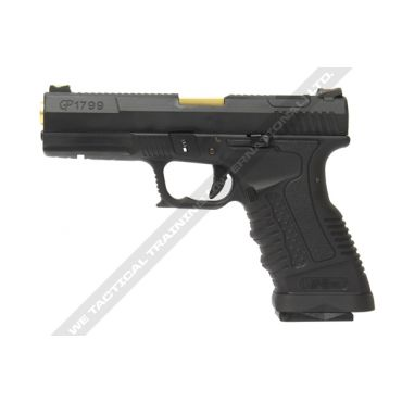 WE GP1799 T1 Black Metal Slide Gold Barrel GBB Pistol ( BK )