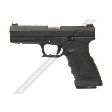WE GP1799 T5 Black Metal Slide Silver Barrel GBB Pistol ( BK )