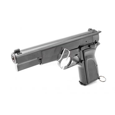 WE Browning Hi-Power MK3 GBB Pistol Airsoft ( Black ) ( Custom Marking )