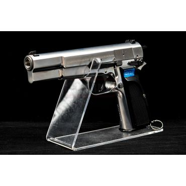 WE Browning Hi-Power MK3 GBB Pistol Airsoft ( Silver ) ( Custom Marking )