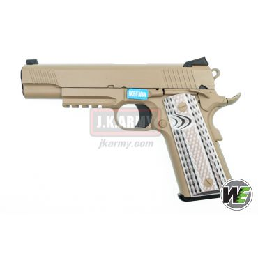 WE M45A1 Marines CQBP Metal GBB Pistol Airsoft ( Tan ) ( 1911 )