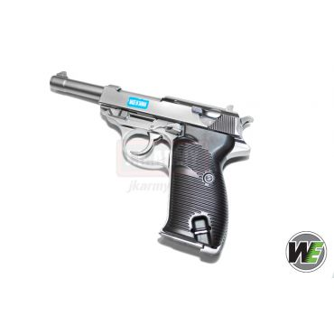 WE P38L GBB Pistol w/ LED Case ( Silver )